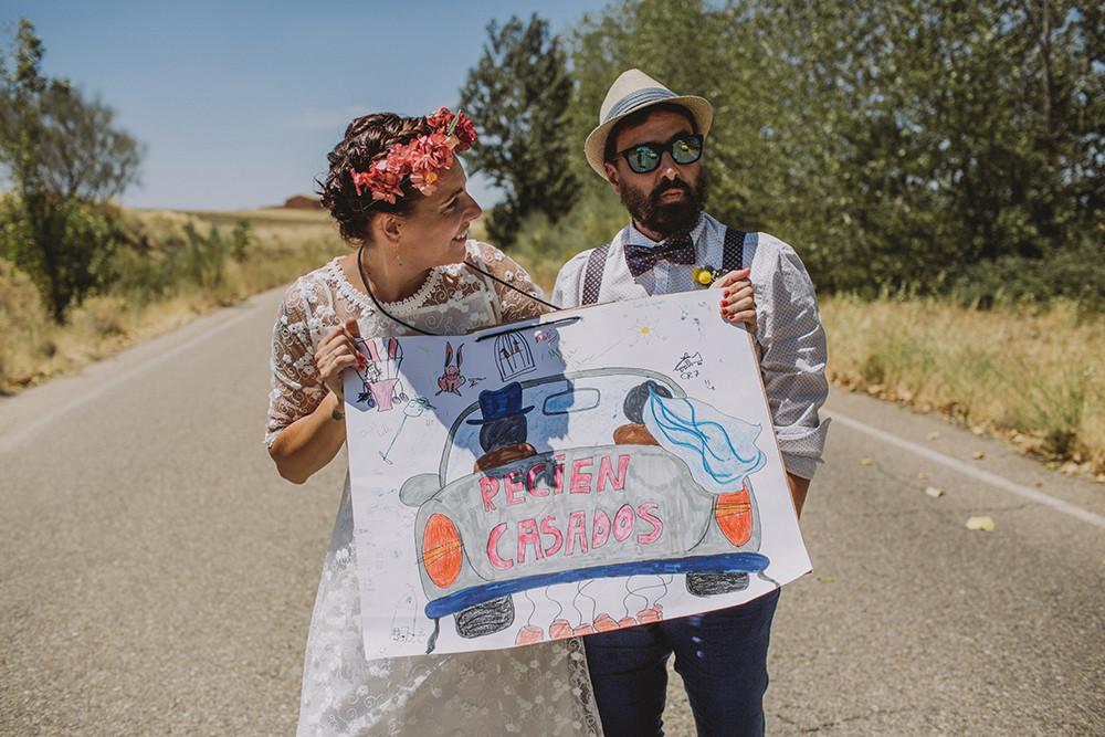 Ana e Ismael. Boda hipster en casa.